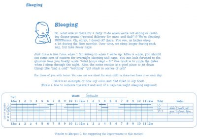 Sleeping Chart Instructions