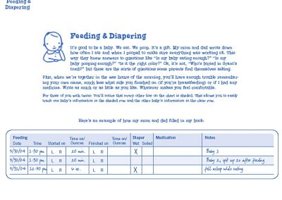 Feeding Log Instruction Page